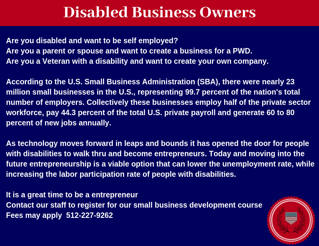 Disabled Business Owner